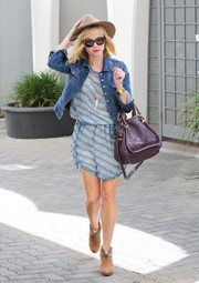 The actress stepped out in Beverly Hills in a country chic outfit boasting western-inspired booties.