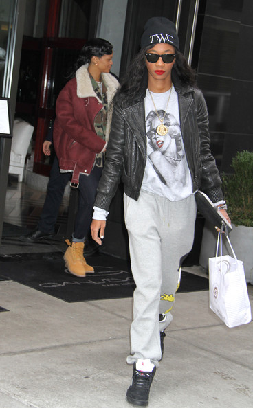 More Pics of Rihanna Lace Up Boots (1 of 10) - Rihanna Lookbook - StyleBistro