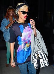 Rihanna wore this bandana with her eclectic ensemble while out in NYC.