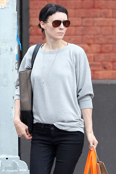 Rooney Mara Aviator Sunglasses
