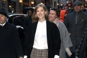 Rosamund Pike Lace-Up Heels