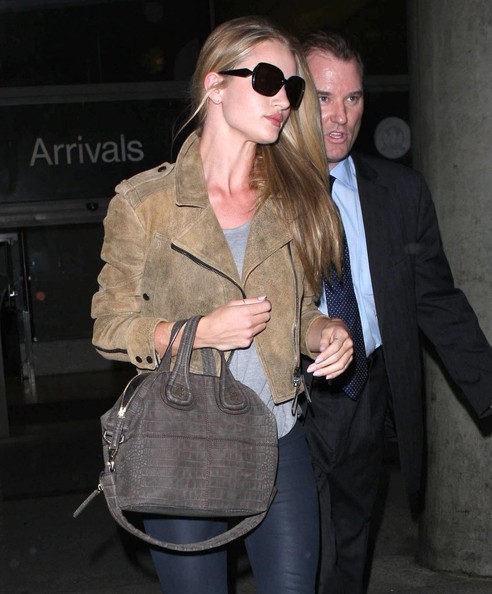 More Pics of Rosie Huntington-Whiteley Leather Jacket (4 of 8) - Rosie Huntington-Whiteley Lookbook - StyleBistro