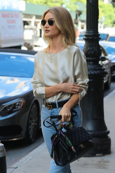 More Pics of Rosie Huntington-Whiteley Leather Belt (2 of 20) - Belts Lookbook - StyleBistro []