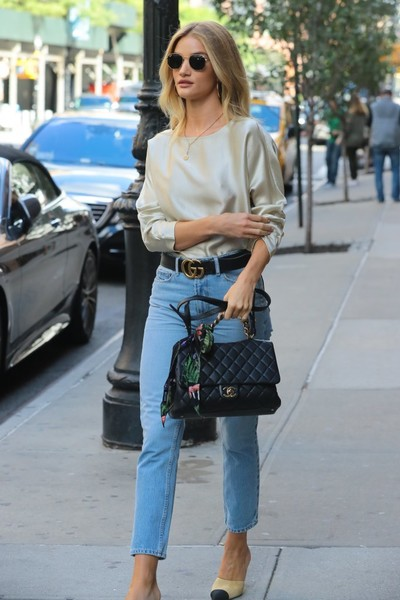 More Pics of Rosie Huntington-Whiteley Leather Belt (6 of 20) - Belts Lookbook - StyleBistro []