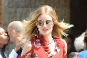 Rosie Huntington-Whiteley Round Sunglasses