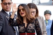 Salma Hayek Aviator Sunglasses