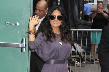 Salma Hayek Goes Glam In Grape