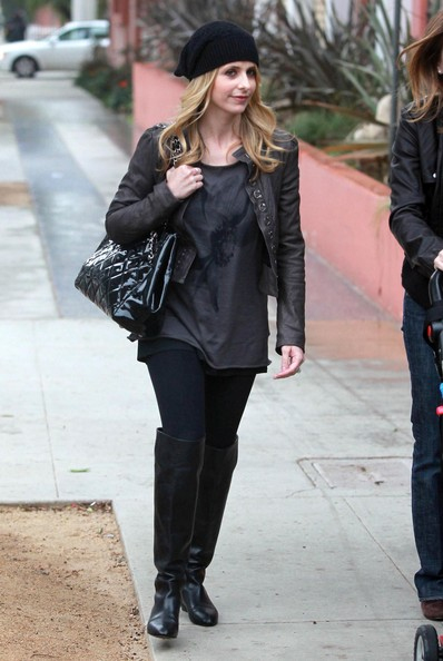 Sarah Michelle Gellar Quilted Leather Bag