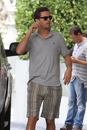 Scott Disick looked perfectly preppy in a classic Ralph Lauren polo shirt.