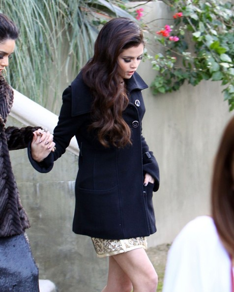 More Pics of Vanessa Hudgens Wool Coat (1 of 30) - Vanessa Hudgens Lookbook - StyleBistro