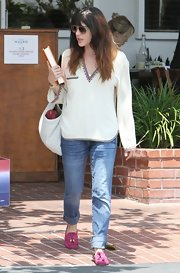 A cuffed pair of skinny jeans topped off Selma Blair's look while out in Hollywood.
