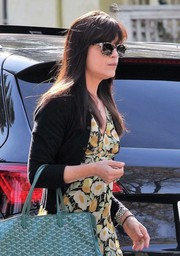 Selma Blair accessorized with a pair of print sunglasses for a day out in West Hollywood.
