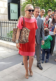This leopard print bag was a great choice for a day out on the town in Paris.