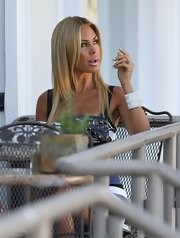 Shauna Sand filmed a reality TV show in LA wearing an ultra-chic crystal-studded cuff bracelet.