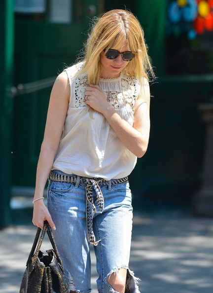 More Pics of Sienna Miller Ripped Jeans (2 of 9) - Sienna Miller Lookbook - StyleBistro