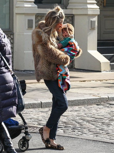 Sienna Miller Out With Her Daughter In NYC 2