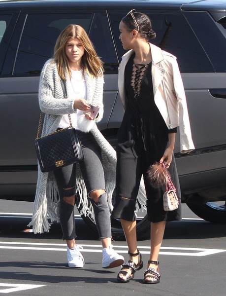 Sofia Richie Quilted Leather Bag