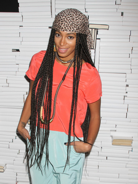 Solange Knowles Long Braided Hairstyle