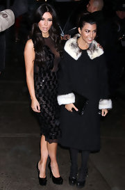 Kourtney Kardashian carried a sleek black clutch for her appearance on the 'Late Show with David Letterman.'