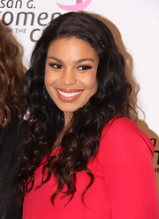 A barely-there gloss really made Jordin's pearly whites shine.