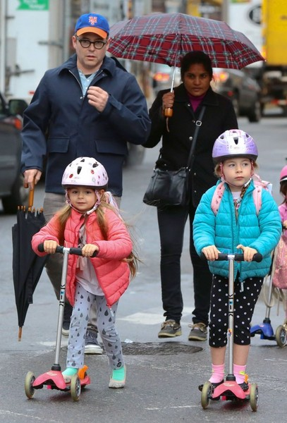 Matthew Broderick Runs Errands With His Girls