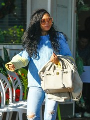 Taraji P. Henson channeled the '70s with these oversized round shades while out at Fred Segal.