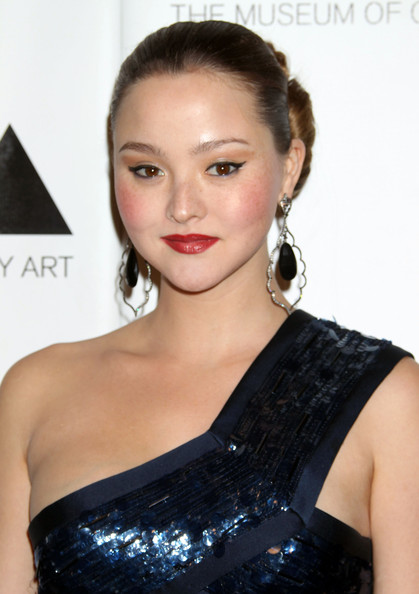 More Pics of Devon Aoki Chignon (1 of 3) - Devon Aoki Lookbook - StyleBistro