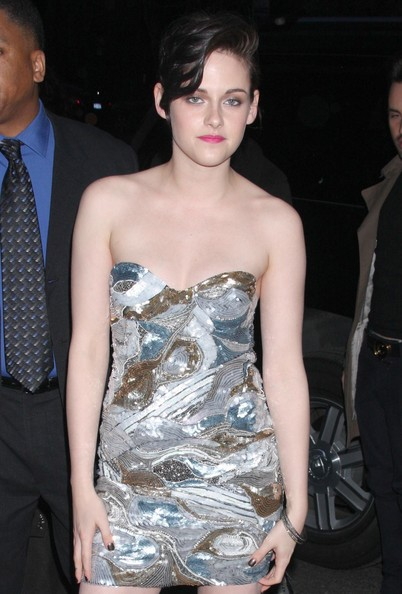 Kristen Stewart wore a few simple silver bangle bracelets at the NYC premiere of 'The Runaways.'