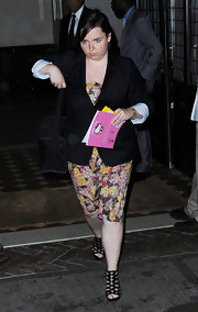 Isabella Kidman-Cruise's blazer added structure to her flowery frock.