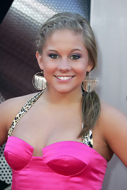 Shawn Johnson's French braid was a youthful contrast to her sultry outfit at the 'Transformers' premiere.