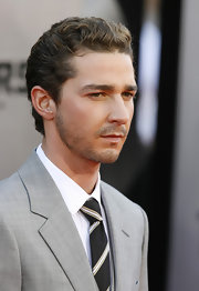 Shia LaBeouf slicked back his short wavy hair for the premiere of 'Transformers: Revenge of the Fallen.'