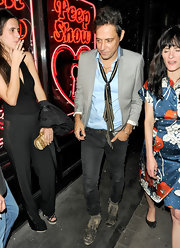 The way Jamie Hince used a print silk scarf instead of a tie with his button down was genius!