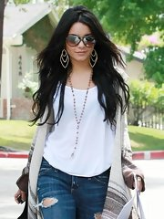 Vanessa Hudgens showed off her casual style while leaving a friends house in Woodland hills.