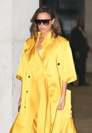 Victoria Beckham ditched her signature oversized shades for these top-heavy sunglasses by Celine for a day out in New York City.