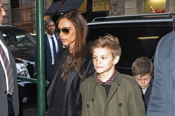 Victoria Beckham;Romeo Beckham David & Victoria Beckham Lunch In NYC