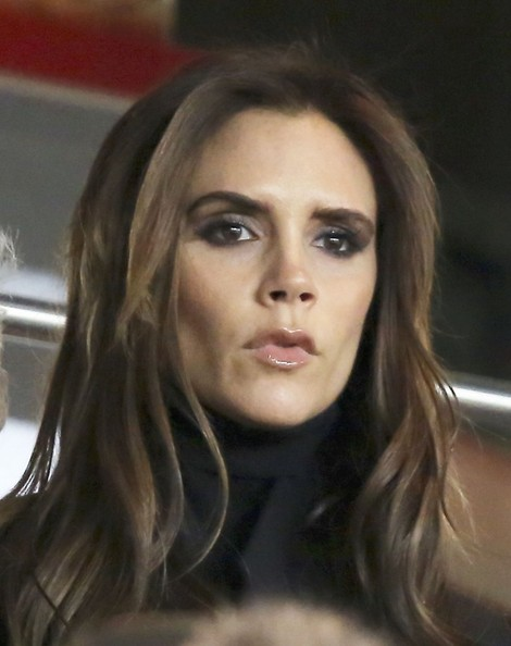 Victoria Beckham Roots for David in Paris