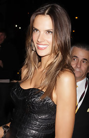 Alessandra Ambrosio headed to the 2011 Victoria's Secret Fashion Show after party with her hair looking super shiny and casually tousled.