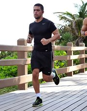 Wilmer Valderrama was out for a job wearing a sexy athletic top.