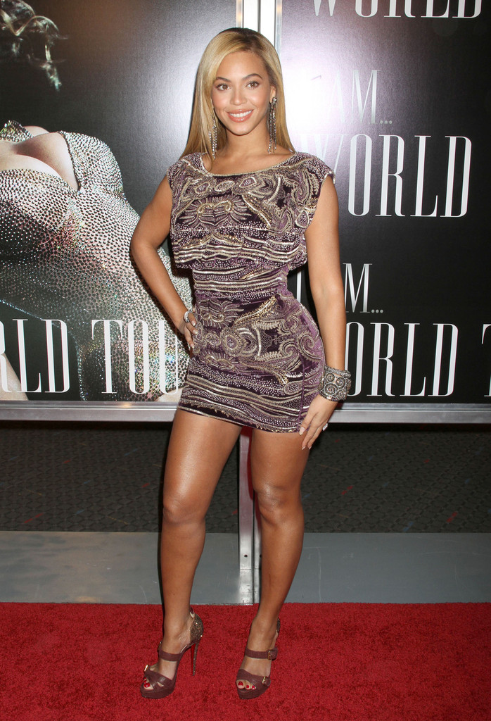 "Beyonce Knowles at the New York screening of ""I AM...World Tour"" at the School of Visual Arts Theatre in New York City, NY."