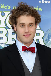 T.J. Miller added some color to his look with a red bow tie.