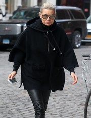 Yolanda Hadid accessorized with a pair of speckled sunglasses while out in New York City.