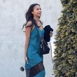 Zoe Saldana's Teal and Lace