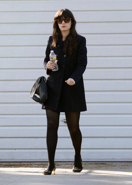 More Pics of Zooey Deschanel Wool Coat (5 of 11) - Wool Coat Lookbook - StyleBistro