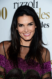 Angie Harmon wore her tresses loose with flippy layers during the 'Rizzoli and Isles' 100 episode celebration.