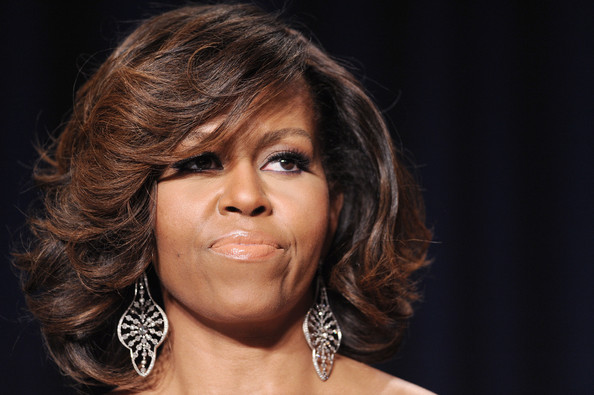 More Pics of Michelle Obama Sterling Dangle Earrings (1 of 11) - Michelle Obama Lookbook - StyleBistro