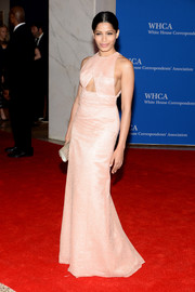 Freida Pinto looked alluring in a pink Thakoon cutout gown during the White House Correspondents' Association Dinner.