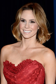 Keltie Knight topped off her look with a simple short wavy 'do when she attended the White House Correspondents' Association Dinner.