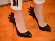 Bridgit's black pumps had cool black spikes on the heels for an added touch of edge.
