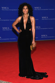 Tracee Ellis Ross made a seductive choice with this plunging black cutout gown by Jovani for the White House Correspondents' Association Dinner.