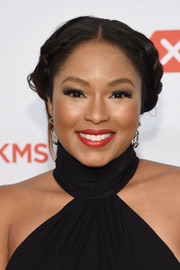 Alicia Quarles opted for a classic braided updo when she attended the Delete Blood Cancer Gala.